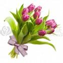 Kytica z ružových tulipánov