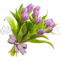 Kytica z fialových tulipánov