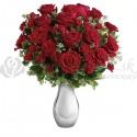 Kytica romantických červených ruží